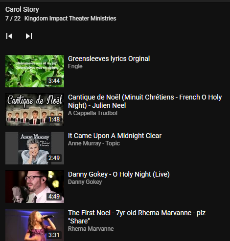 You Tube Music Playlist