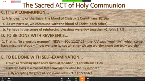 Communion Guidelines