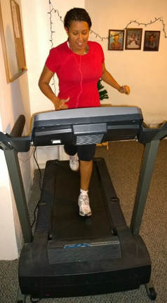 Vikki J Myers treadmill running Picture